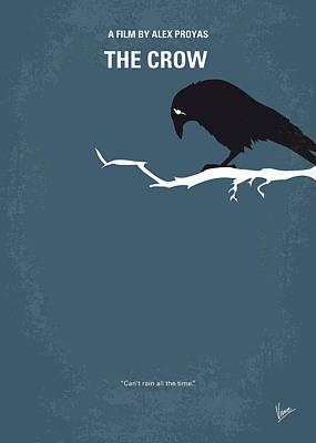 Crow Digital Art - No488 My The Crow Minimal Movie Poster by Chungkong Art