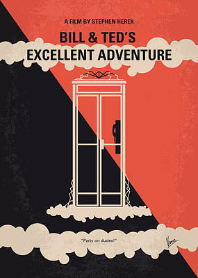 No490 My Bill And Teds Excellent Adventure Minimal Movie Poster Print by Chungkong Art