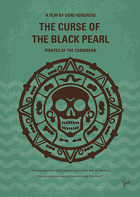 Sparrow Digital Art - No494-1 My Pirates Of The Caribbean I Minimal Movie Poster by Chungkong Art