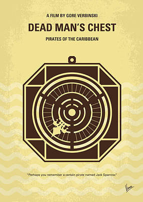 Sparrow Digital Art - No494-2 My Pirates Of The Caribbean II Minimal Movie Poster by Chungkong Art