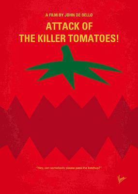 Tomatos Digital Art - No499 My Attack Of The Killer Tomatoes Minimal Movie Poster by Chungkong Art