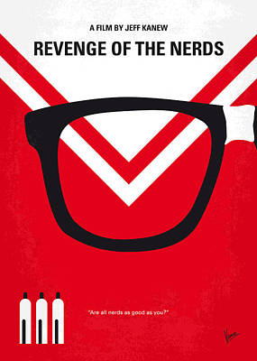 No504 My Revenge Of The Nerds Minimal Movie Poster Print by Chungkong Art
