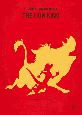 Meerkat Digital Art - No512 My The Lion King Minimal Movie Poster by Chungkong Art