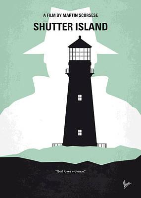 No513 My Shutter Island Minimal Movie Poster Print by Chungkong Art