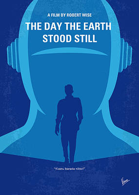 No514 My The Day The Earth Stood Still Minimal Movie Poster Print by Chungkong Art