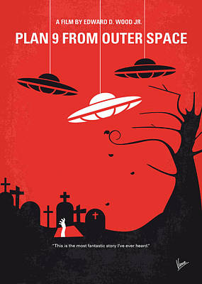 No518 My Plan 9 From Outer Space Minimal Movie Poster Print by Chungkong Art