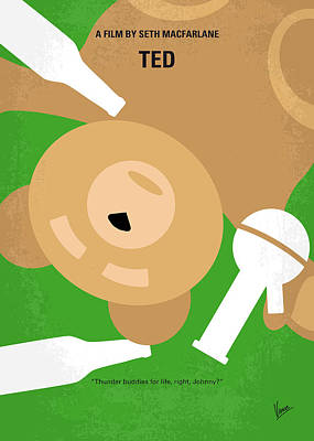 Teddy Bear Digital Art - No519 My Ted Minimal Movie Poster by Chungkong Art