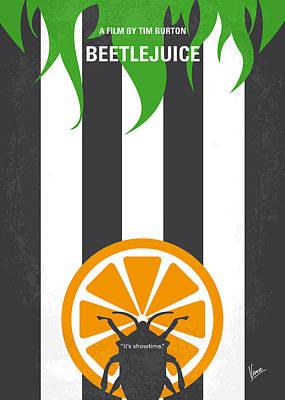 No531 My Beetlejuice Minimal Movie Poster Print by Chungkong Art