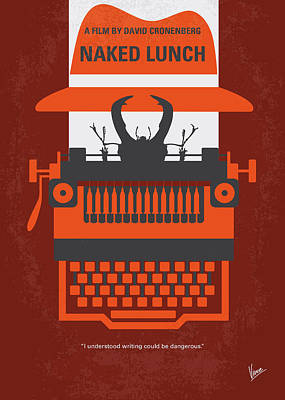 Typewriter Digital Art - No534 My Naked Lunch Minimal Movie Poster by Chungkong Art
