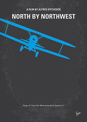 Cult Digital Art - No535 My North By Northwest Minimal Movie Poster by Chungkong Art
