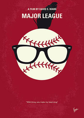 Major League Digital Art - No541 My Major League Minimal Movie Poster by Chungkong Art