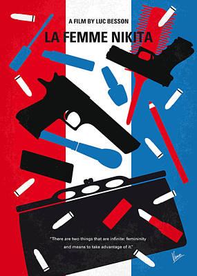 No545 My La Femme Nikita Minimal Movie Poster Print by Chungkong Art