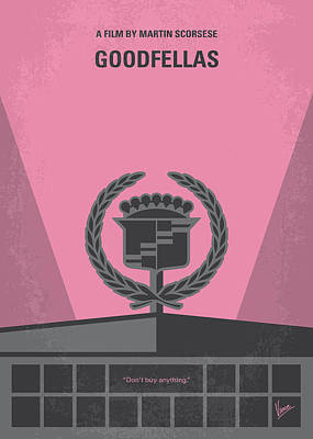 Mob Digital Art - No549 My Goodfellas Minimal Movie Poster by Chungkong Art