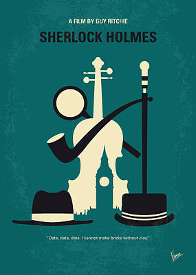 Law Digital Art - No555 My Sherlock Holmes Minimal Movie Poster by Chungkong Art