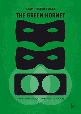 No561 My The Green Hornet Minimal Movie Poster Print by Chungkong Art