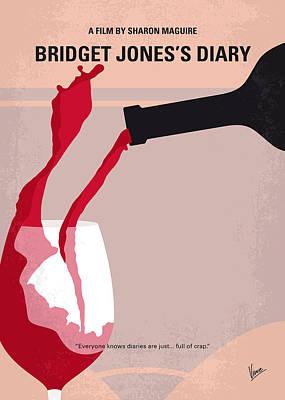 No563 My Bridget Jones Diary Minimal Movie Poster Print by Chungkong Art