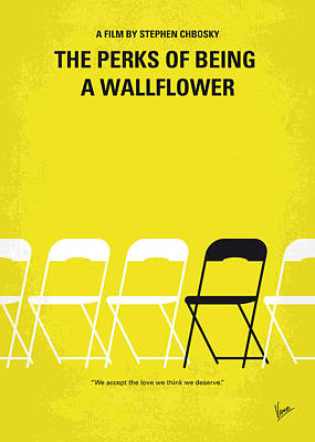 No575 My Perks Of Being A Wallflower Minimal Movie Poster Print by Chungkong Art