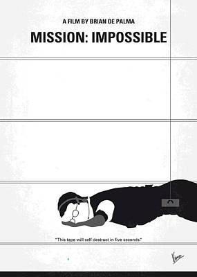 Prague Digital Art - No583 My Mission Impossible Minimal Movie Poster by Chungkong Art