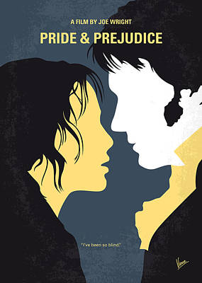 Elizabeth Digital Art - No584 My Pride And Prejudice Minimal Movie Poster by Chungkong Art