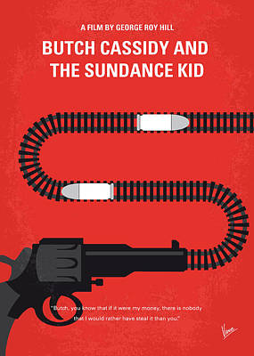 Ideas Digital Art - No585 My Butch Cassidy And The Sundance Kid Minimal Movie Poster by Chungkong Art