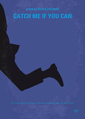 No592 My Catch Me If You Can Minimal Movie Poster Print by Chungkong Art
