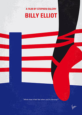 No597 My Billy Elliot Minimal Movie Poster Print by Chungkong Art
