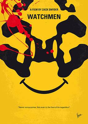 Soviets Digital Art - No599 My Watchmen Minimal Movie Poster by Chungkong Art