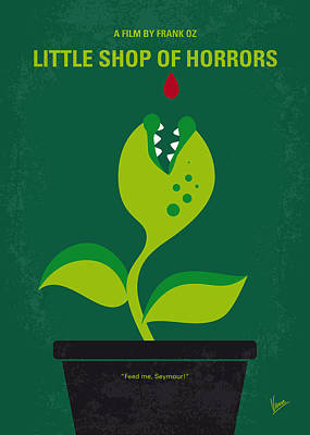 Blood Digital Art - No611 My Little Shop Of Horrors Minimal Movie Poster by Chungkong Art