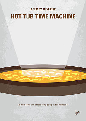 80s Digital Art - No612 My Hot Tub Time Machine Minimal Movie Poster by Chungkong Art