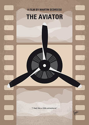 Aviator Print featuring the digital art No618 My The Aviator Minimal Movie Poster by Chungkong Art