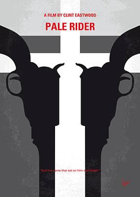 No640 My Pale Rider Minimal Movie Poster Print by Chungkong Art