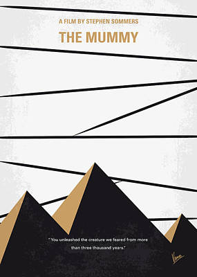 No642 My The Mummy Minimal Movie Poster Print by Chungkong Art
