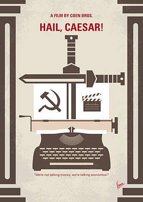 No645 My Hail Caesar Minimal Movie Poster Print by Chungkong Art