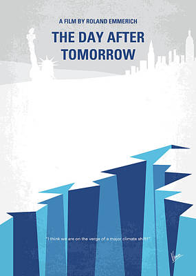 No651 My The Day After Tomorrow Minimal Movie Poster Print by Chungkong Art