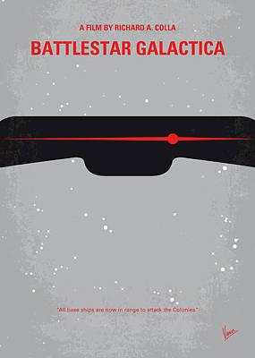 Planet Earth Digital Art - No663 My Battlestar Galactica Minimal Movie Poster by Chungkong Art