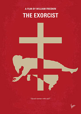 No666 My The Exorcist Minimal Movie Poster Print by Chungkong Art