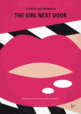 Teenagers Digital Art - No670 My The Girl Next Door Minimal Movie Poster by Chungkong Art