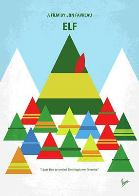 No699 My Elf Minimal Movie Poster Print by Chungkong Art