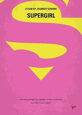 Supergirl Digital Art - No720 My Supergirl Minimal Movie Poster by Chungkong Art