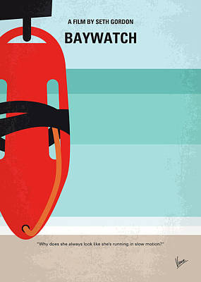 Lifeguard Digital Art - No730 My Baywatch Minimal Movie Poster by Chungkong Art