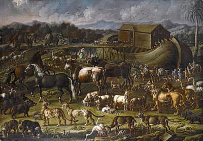 Noah Painting - Noah's Ark by Cajetan Roos