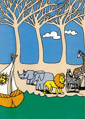 Noah's Ark Original by Genevieve Esson