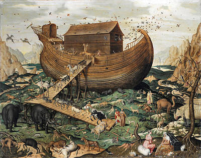 Noah Painting - Noah's Ark On The Mount Ararat by Simon de Myle