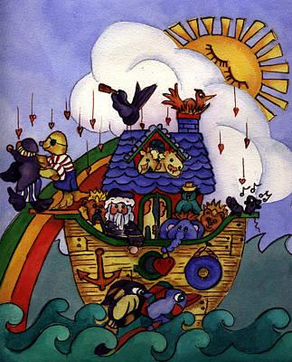 Noah's Ark Print by Patricia Halstead