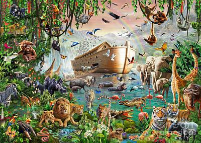 Ark Digital Art - Noah's Ark Variant 1 by MGL Meiklejohn Graphics Licensing