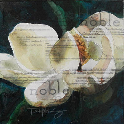 Mixed Media - Noble - Magnolia by Trish McKinney