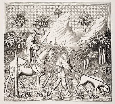 Nobleman In Hunting Costume With His Print by Vintage Design Pics