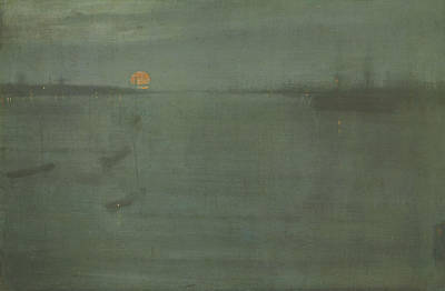 Tonalist Painting - Nocturne Blue And Gold Southampton Water by James Abbott McNeill Whistler