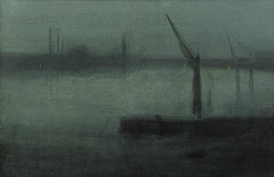 Tonalist Painting - Nocturne Blue And Silver Battersea Reach by James Abbott McNeill Whistler