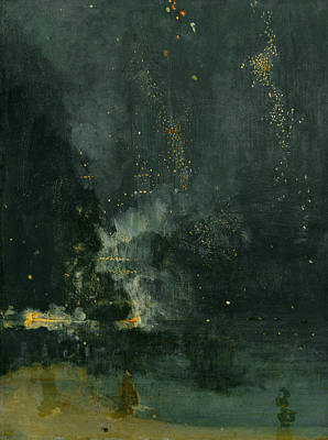 Tonalist Painting - Nocturne In Black And Gold by James Abbott McNeill Whistler